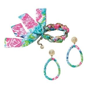 Lilly Pulitzer BOHEMIAN QUEEN Fabric Wrapped set